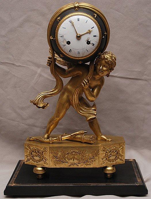 28: French Louis XVI Gilt Bronze clock Vaillant Paris