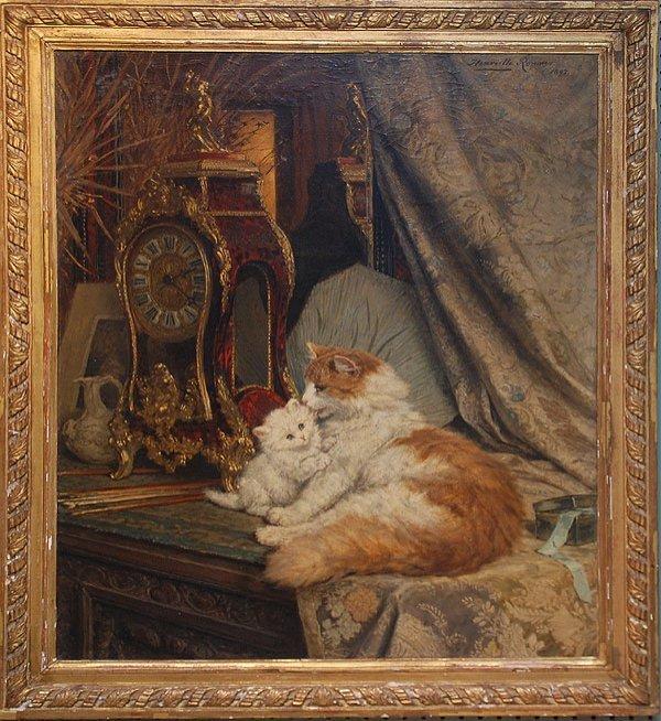 150: HENRIETTE RONNER-KNIP (Dutch 1821-1909) Oil on can