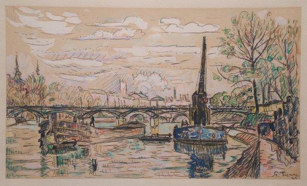 155: PAUL SIGNAC (French 1863-1935) watercolor, gouache