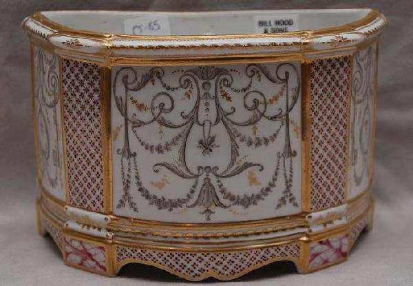 15: Very fine LeBoeuf porcelain crocus pot, French, 18/