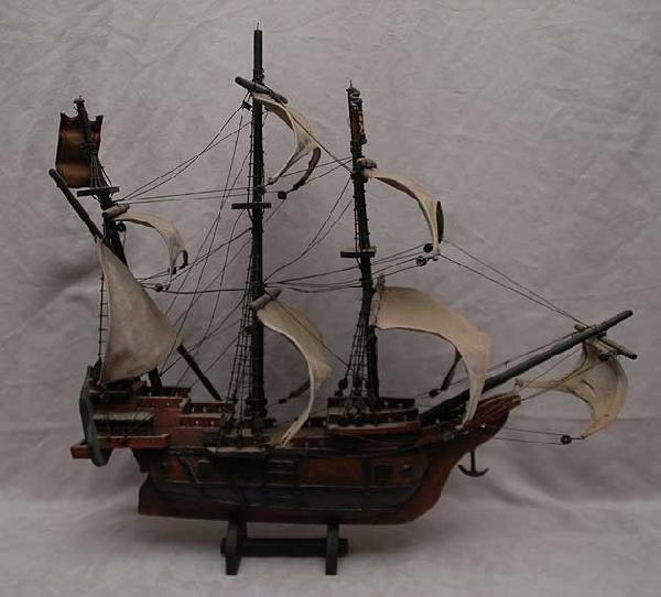 "24: Ship model, approx. 24"" x 24"""