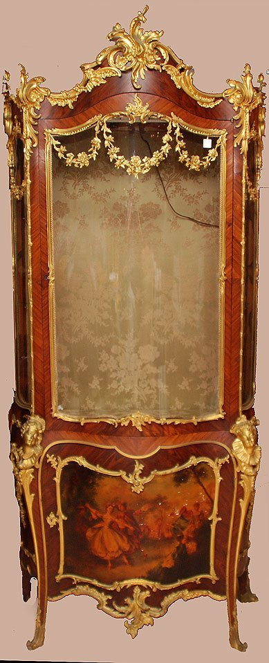 120: 19th century French Ormalu vitrine / gilt bronze