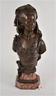M. De Gheest (French, 19th Century) Bronze Bust of a