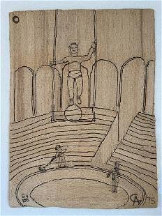 ALEXANDER CALDER / BON-ART - CIRCUS 1975 -Maguey fiber