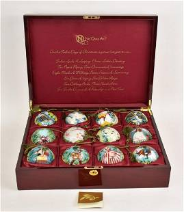 """Ne Qwa Art """"12 Days Of Christmas"""" Ornaments in fitted"""