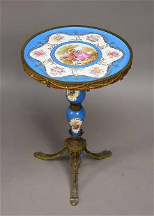French Porcelain and Bronze Trifed Diminutive Table 22
