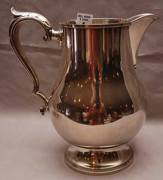 "4: Sterling water pitcher, 22 oz, 9""h"