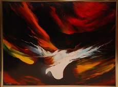 111 Leonardo Nierman MEXICAN 1932 Abstract oil on b