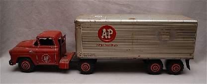 "191: Metal ""A&P Super Markets"" truck, some rust, 27""L x"