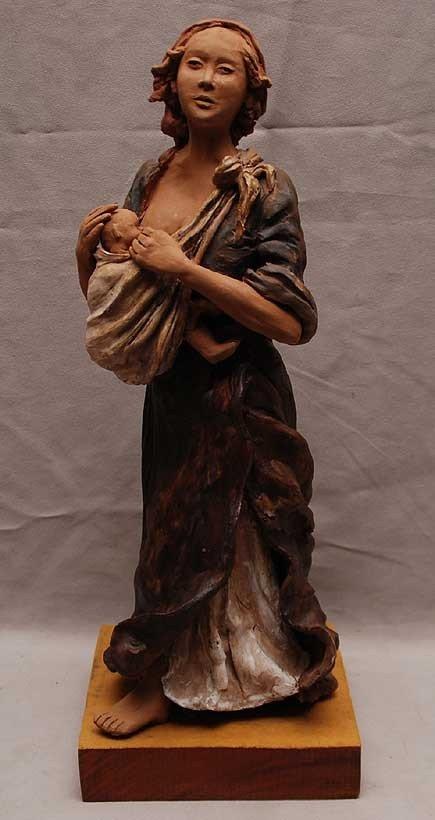 "1: ""Antonieta Rogue Gameiro""  terracotta or clay contem"