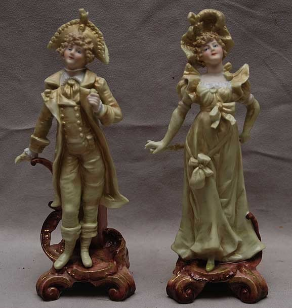 3: Pair of bisque figures of gallant couple