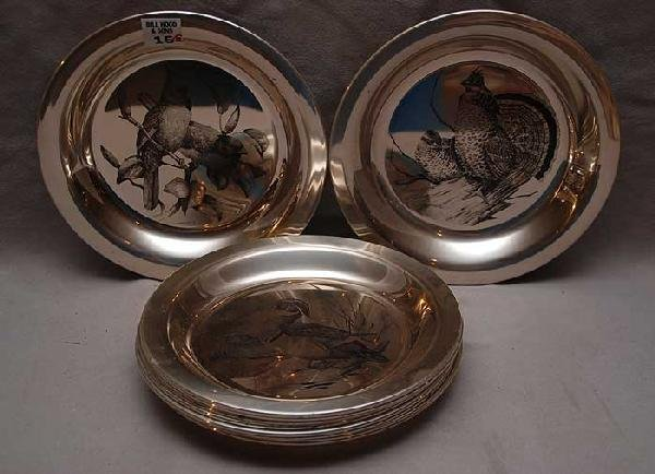 15: 10 sterling plates; 4 Nat'l Audubon Society, 5 Jame