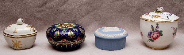 1: Lot of assorted porcelain dresser jars