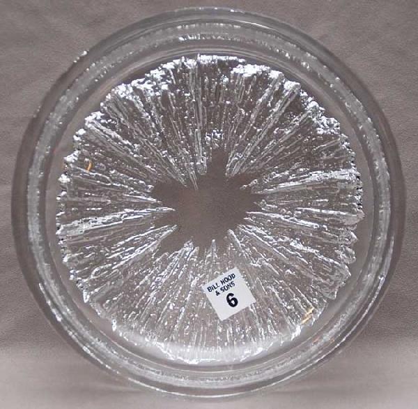 "6: Daum crystal shallow bowl, 3""h"