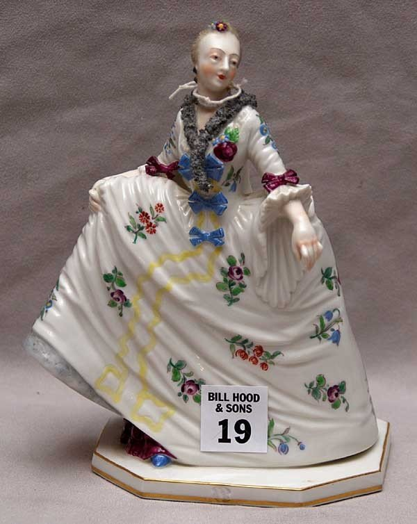 19: Possibly Nymphenburg porcelain figure of aristocrat