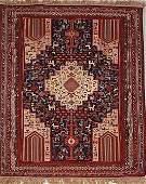 195A AFSHAR PERSIAN ORIENTAL RUG Morgi Design hand