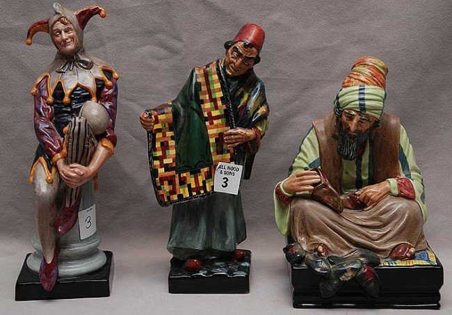 "3: 3 Royal Doulton figurines ""The Carpet Seller"" HN1464"