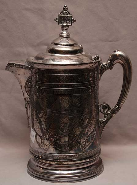 16: Massive 19th century English silver plated  tankard