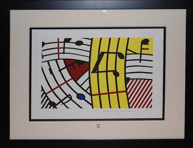 55: Roy Lichtenstein (AMERICAN, 1923-1997) Modern Litho