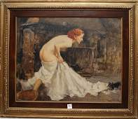 95: Francesco Longo Mancini (ITALIAN, 1880-1941) oil on