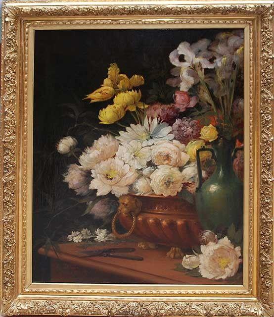 "153: EMILE HENRY LAPORTE, French 1841-1919, ""Floral Sti"
