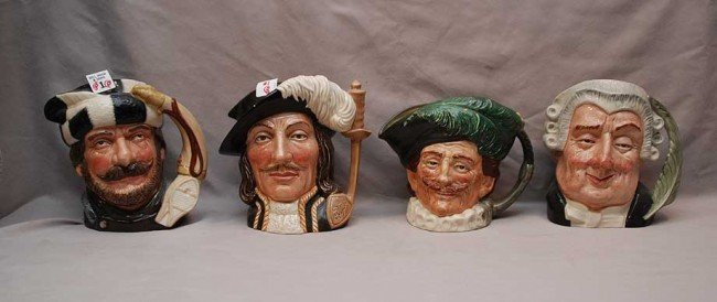 "1: 8 Royal Doulton mugs; D6430 (7 3/8""h) D6609 (7 3/8""h"