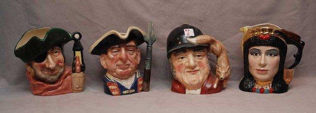 "3: 8 Royal Doulton mugs; Tony Meller (4""h) ????? (6""h)"