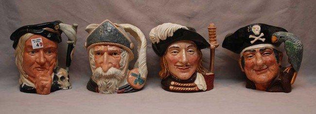"4: 7 Royal Doulton mugs; D6623, D6654 (7 3/8""h) D6335 ("