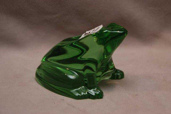 "11: Baccarat frog, 2 3/4""H  x 4""L"