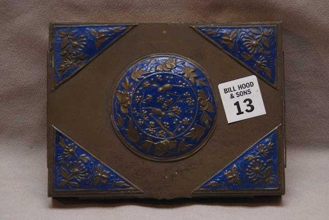 13: 2 Chinese hinged boxes with divided compartments an
