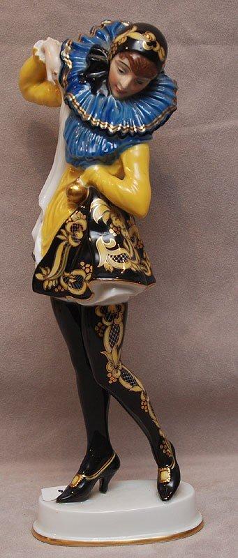 2B: Rosenthal female jester, Black & Gold, Bavaria,