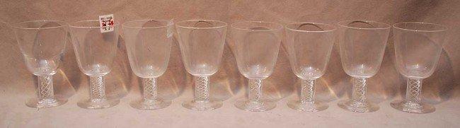 """17: 8 Steuben juice glasses, 4 3/4""""h"""