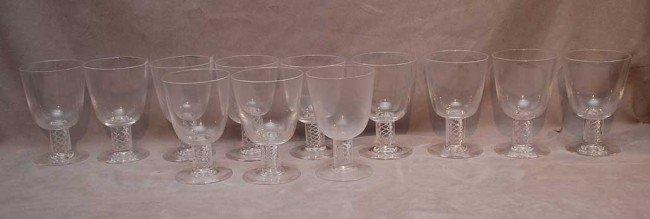 "20: 12 Steuben water glasses, 5 3/4""h"