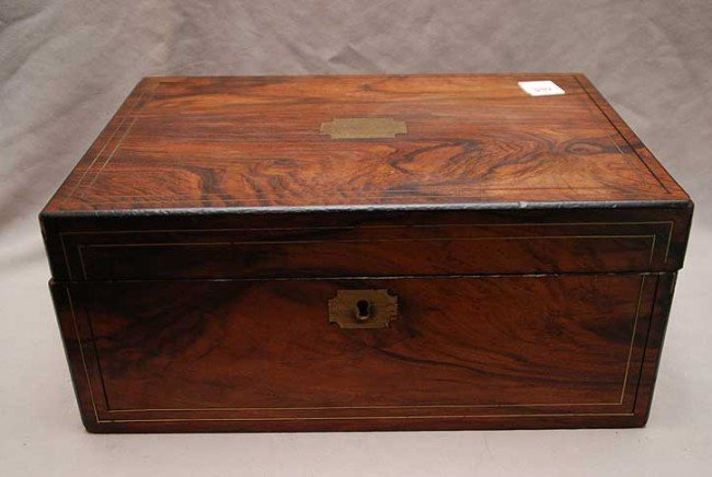 342: Late 19th c./early 20th c. traveling lap desk, age