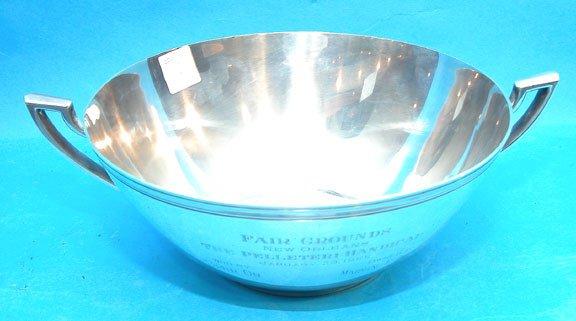 1010: Sterling S. Kirk & Sons Horse race Trophy bowl, i
