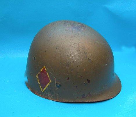 1042F: 3 WWll Helmets - US Army WWll Helmet w/ liner &