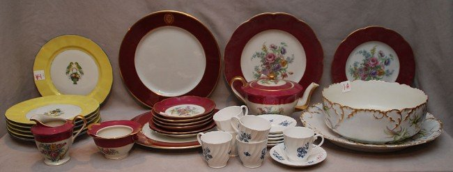 1A: Approx. 30 pieces of assorted porcelain, incl; Limo