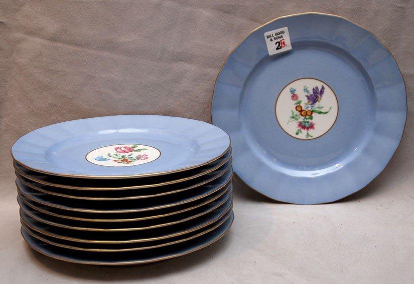 """2: 10  """"T&V Limoges France""""  plates, for """"Ovingtons"""" N."""