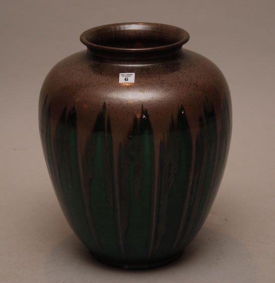 "6: Chinese drip glaze pottery urn, 15""h"