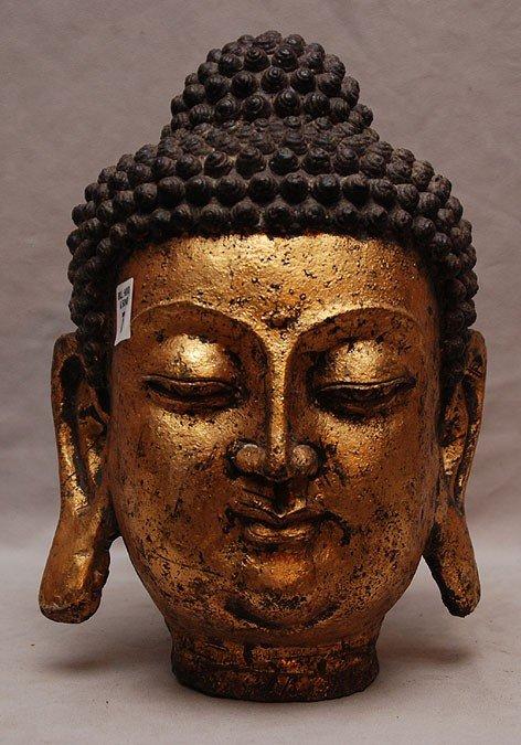 7: Large metal buddha head