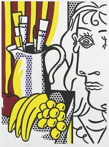 108A: Roy Lichtenstein color silkscreen hommage to Pica