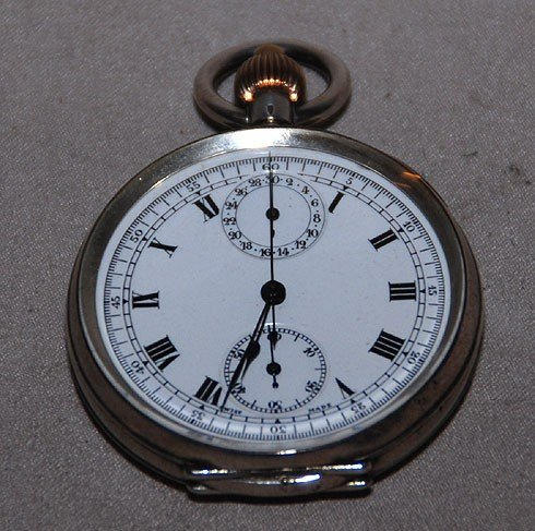 2A: Le Phare Swiss chronograph pocket watch, case is st