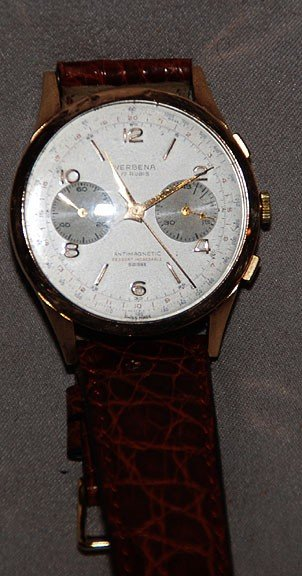 4C: 18kt wrist watch, Verbena, Valious chronograph move