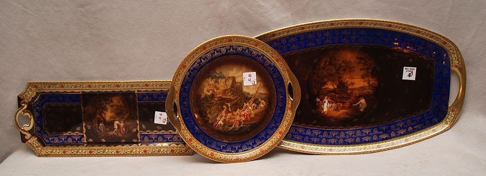 """4: 3 platters, beehive mark"""" 5476, different sizes with"""