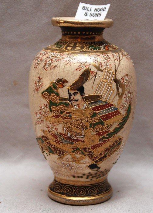 "13: Satsuma small vase, 5 1/4""h"