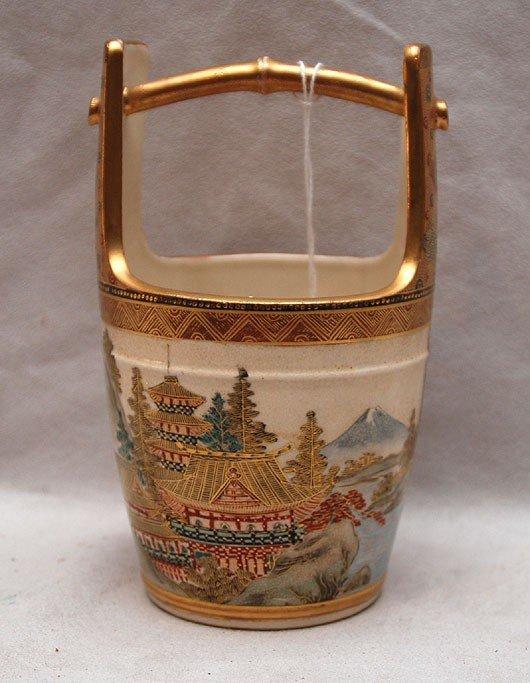 18: Satsuma bucket, birds, mountain and house decoratio