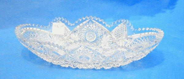 "18: Fine cut glass celery bowl signed ""Libbey"" ca 1900,"