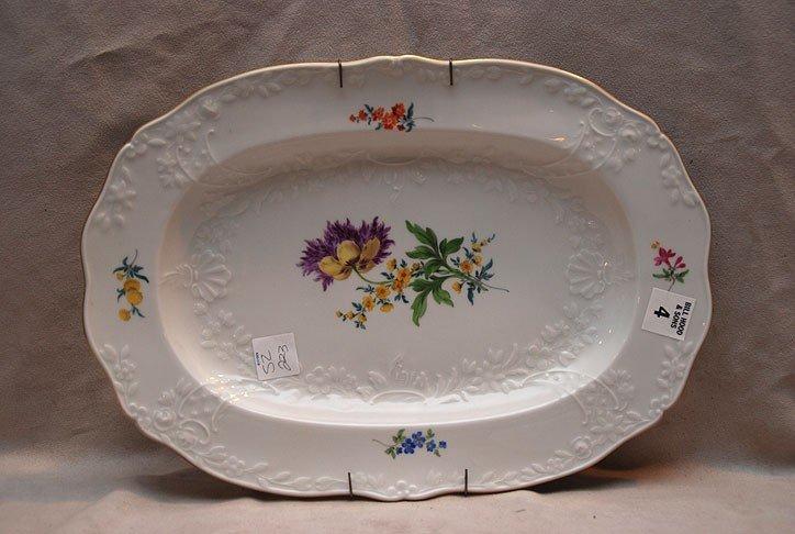 """4: Meissen platter, 14""""L x 10""""w"""