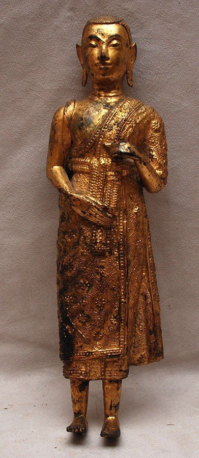 503: Thai metal standing deity, not attached to a base,