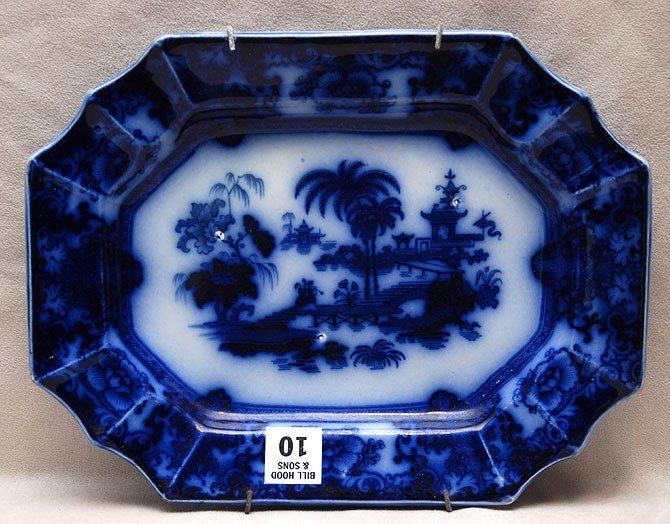 "10: Small Flow blue platter, 10 3/4""w"